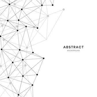 Witte neurale textuur abstracte vector