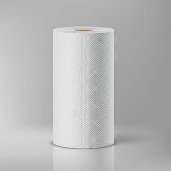Witte papieren handdoeken. illustratie