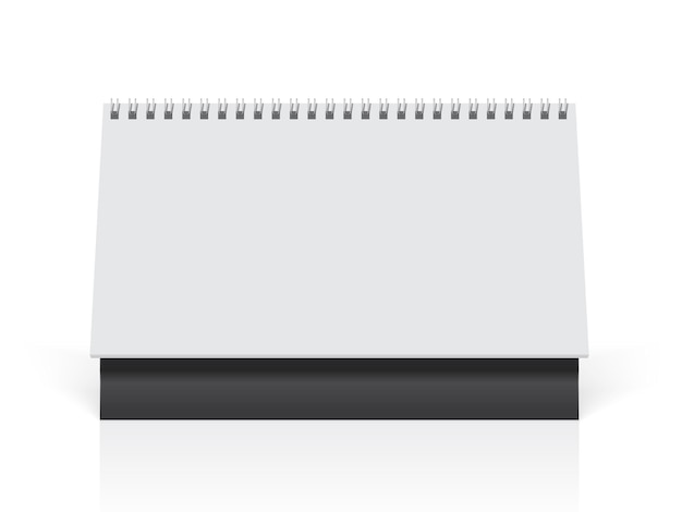 Witte papieren kalender staat op tafel