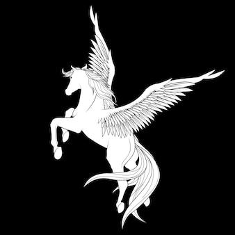 Witte pegasus-illustratie