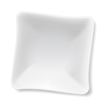 Witte plaat illustratie