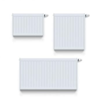 Witte radiator set