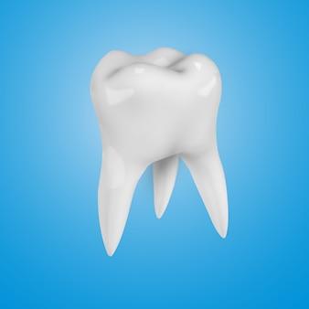 Witte realistische 3d tand