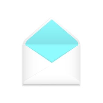 Witte realistische envelop mock-up
