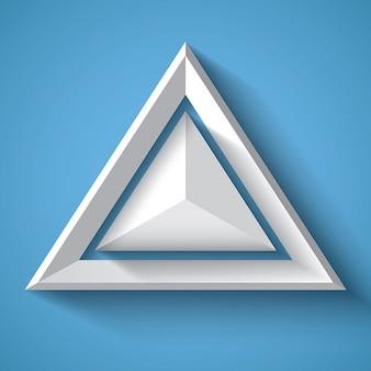 Witte realistische geometrische achtergrond met driehoek