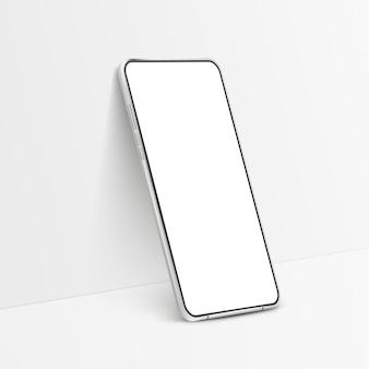 Witte realistische isometrische smartphone