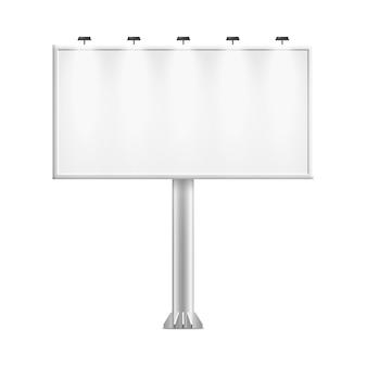 Witte reclamebordstandaard met lege kopie ruimte voor grote buitenreclame poster