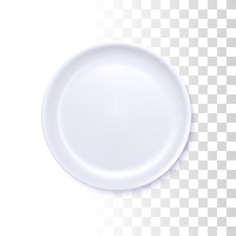 Witte ronde plaat