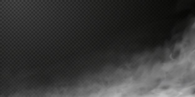 Witte rookwolk geïsoleerd op transparante zwarte achtergrond png stoomexplosie speciaal effect