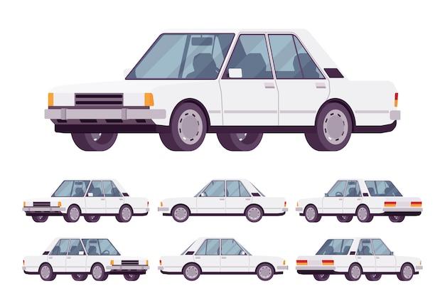 Witte sedan set