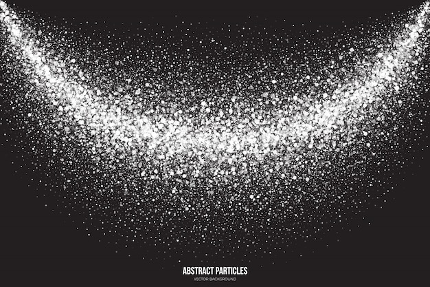 Witte shimmer glowing deeltjes abstracte achtergrond