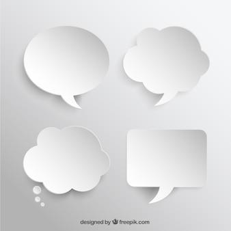 Witte speech bubbles