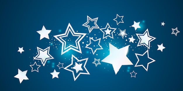 Witte sterren feestelijke partij achtergrondillustratie