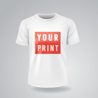 Witte t-shirts met korte mouwen mock-up
