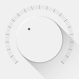 Witte technologie volumeknop