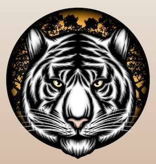 Witte tijger in de jungle.