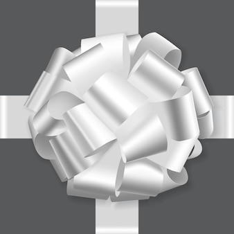 Witte vakantie strik op witte achtergrond vector