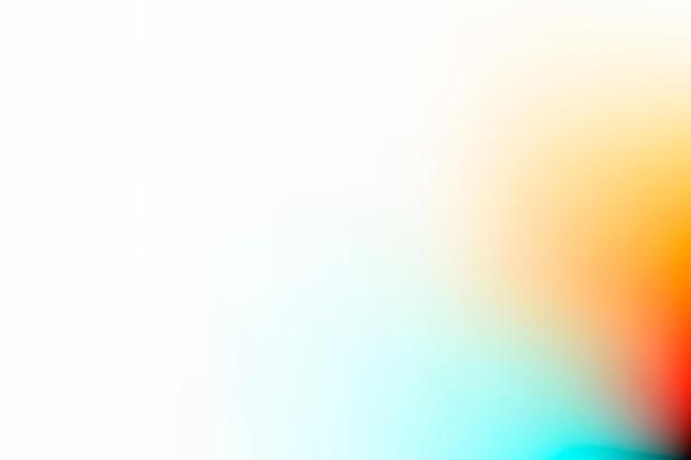 Witte vervaagde achtergrond met kleurovergang en oranje rand