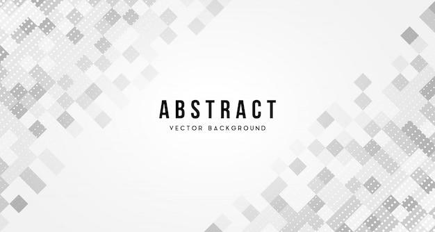 Witte vierkante abstracte achtergrond