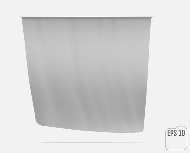 Witte vlag illustratie
