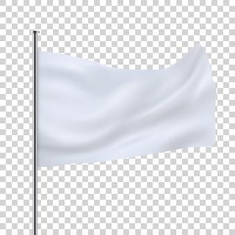 Witte vlag sjabloon