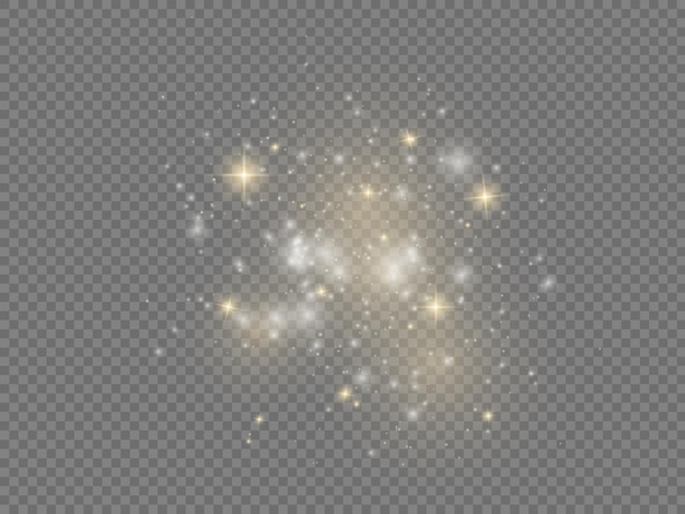 Witte vonken ster glans kerst vonk lichteffect sprankelende magische stofdeeltjes fonkelen
