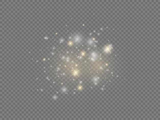 Witte vonken ster glans kerst vonk lichteffect sprankelende magische stofdeeltjes fonkelen Premium Vector