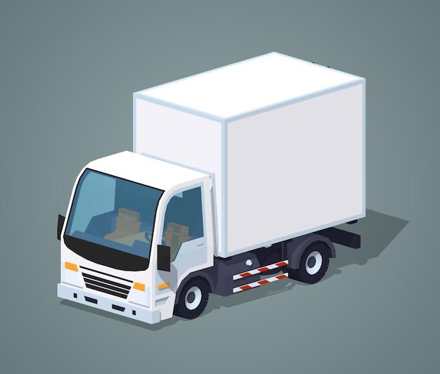 Witte vrachtauto