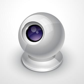 Witte webcam