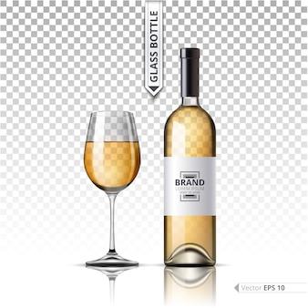 Witte wijnfles
