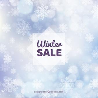Witte winter verkoop achtergrond
