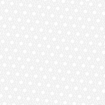 Witte zeshoek retro patroon achtergrond