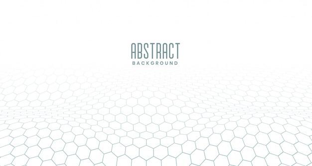Witte zeshoekige digitale abstracte achtergrond
