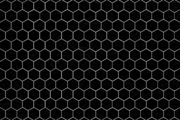 Witte zeshoekige patroon achtergrond