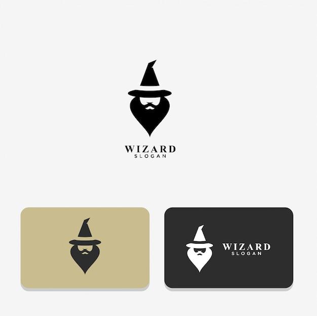 Wizard abstract logo ontwerp