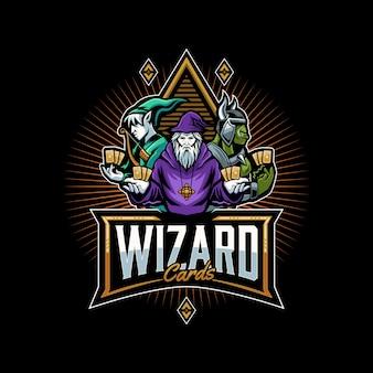 Wizard en vrienden logo sjabloon