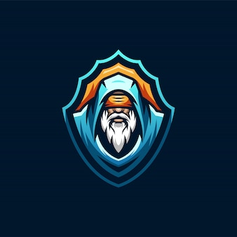 Wizard esports logo-ontwerp