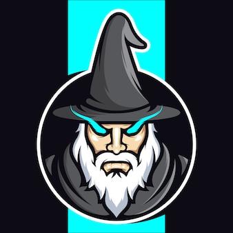 Wizard esports logo ontwerp