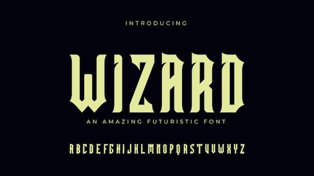 Wizard futuristic font