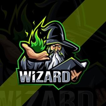 Wizard mascotte logo esport ontwerp