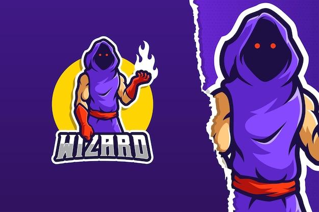 Wizard mascotte logo sjabloon