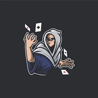 Wizard poker artwork geïsoleerd