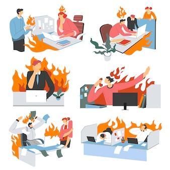 Woede en frustratie op kantoor overwerkende mensen