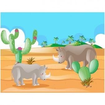 Woestijn achtergrond ontwerp