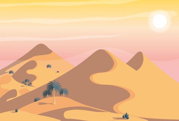 Woestijn landschap scène