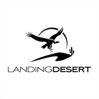 Woestijn logo eenvoudige vliegende gier afbeelding
