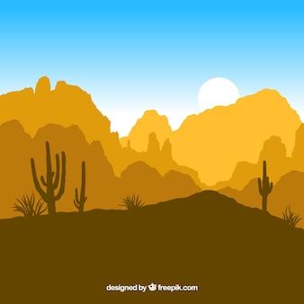 Woestijn silhouetten