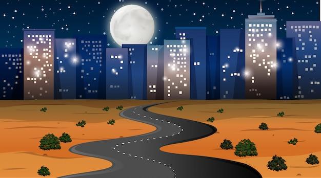 Woestijn stad achtergrond scène
