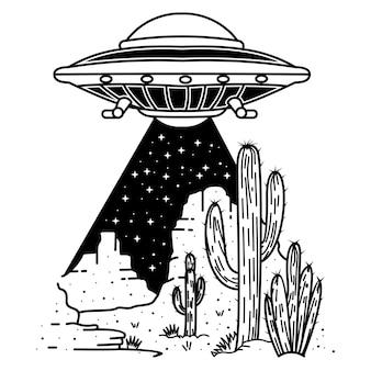Woestijn ufo