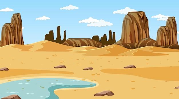Woestijnboslandschap overdag
